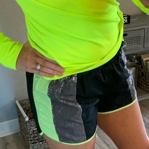 Victoria's Secret PINK neon running shorts